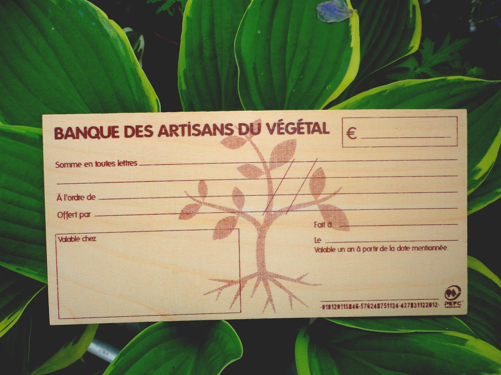 Un cadeau original : le chèque en bois !